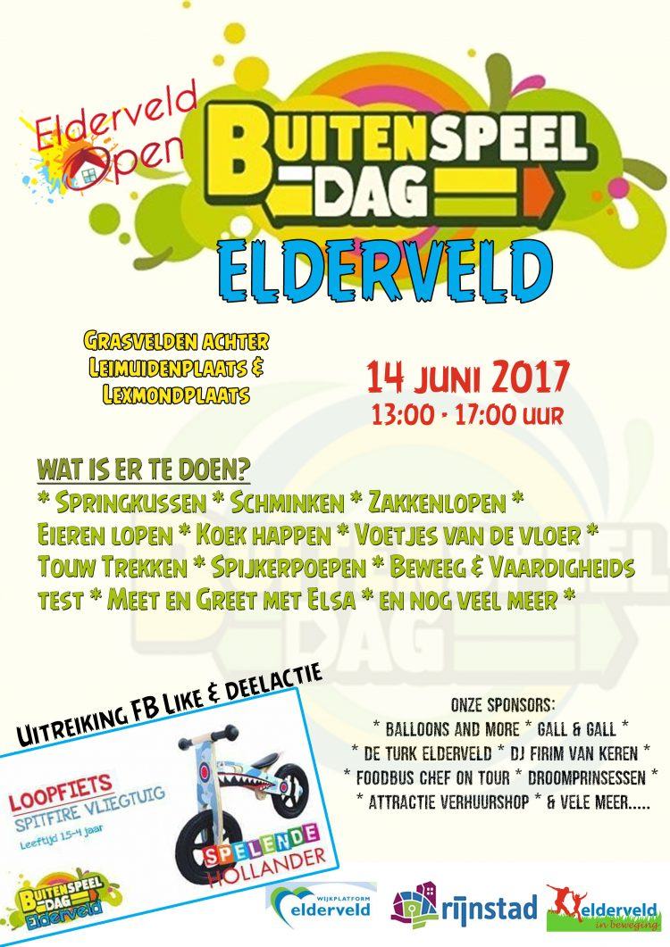 Nationale Buitenspeeldag Elderveld 2017